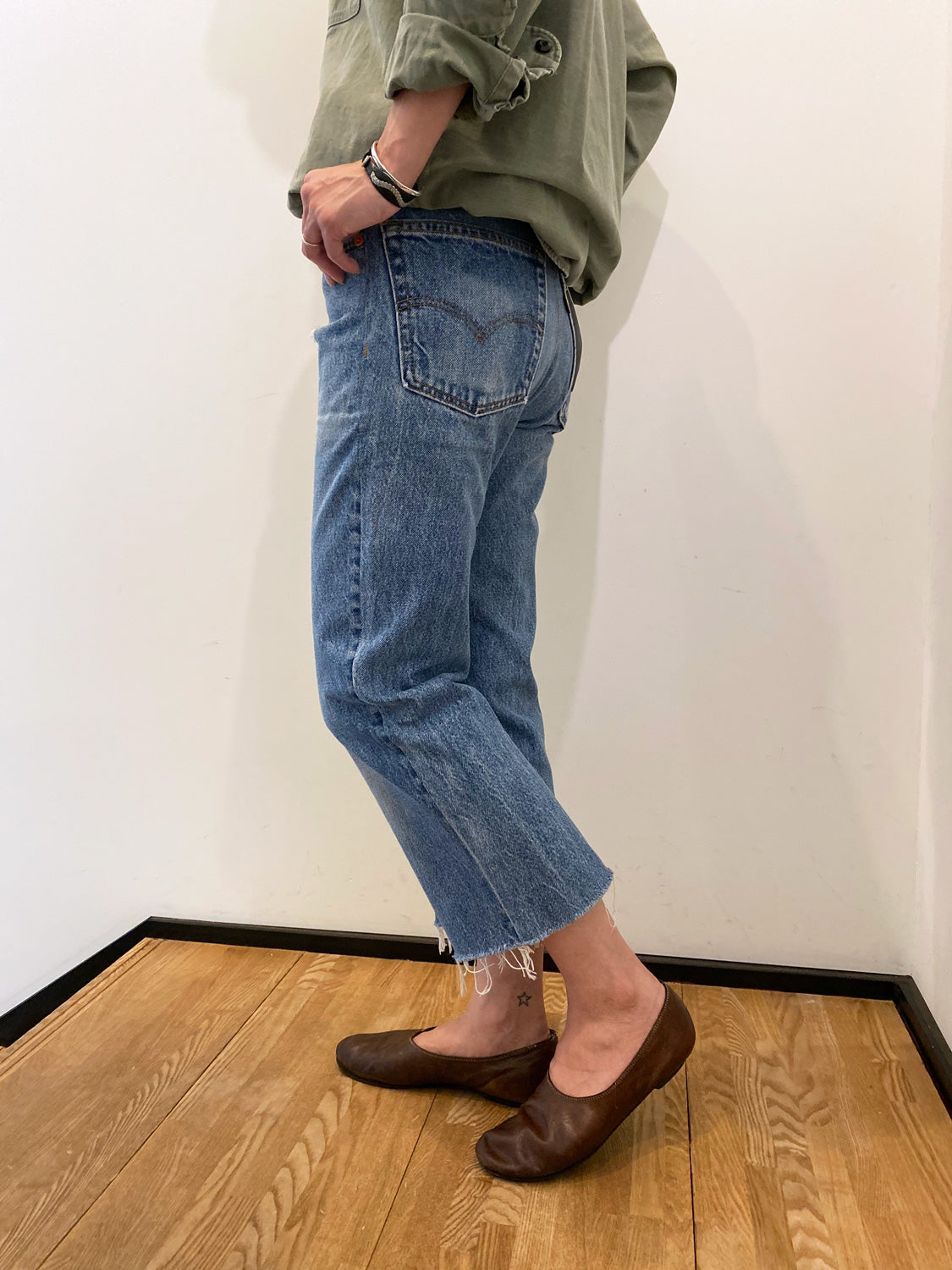 RE/DONE 70s SUPER CROP BOOTS