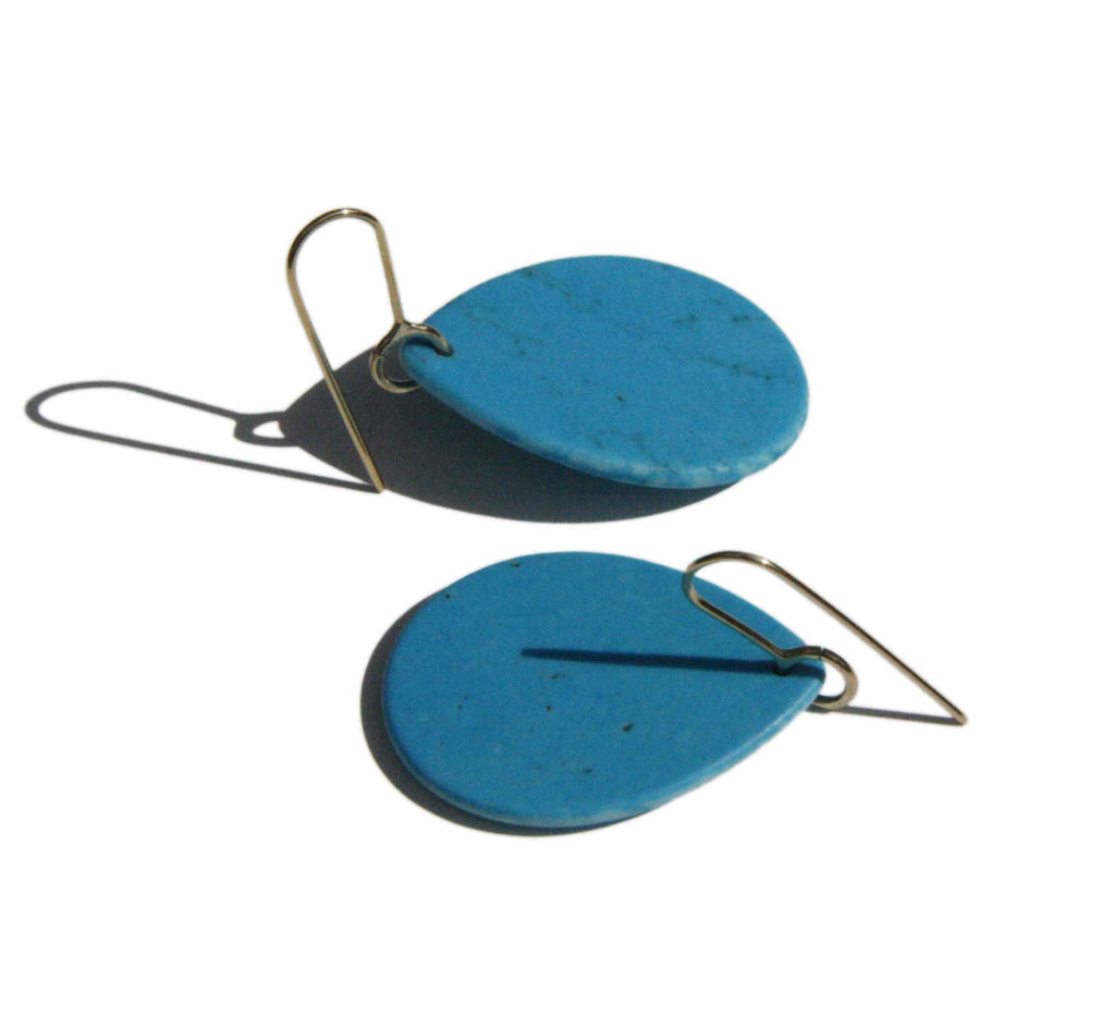 Howlite tear Earrings