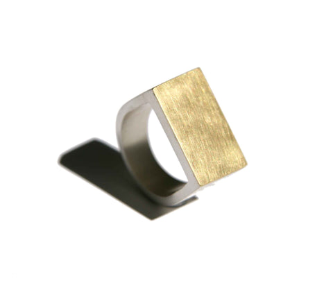 'Cubist' men's dress ring