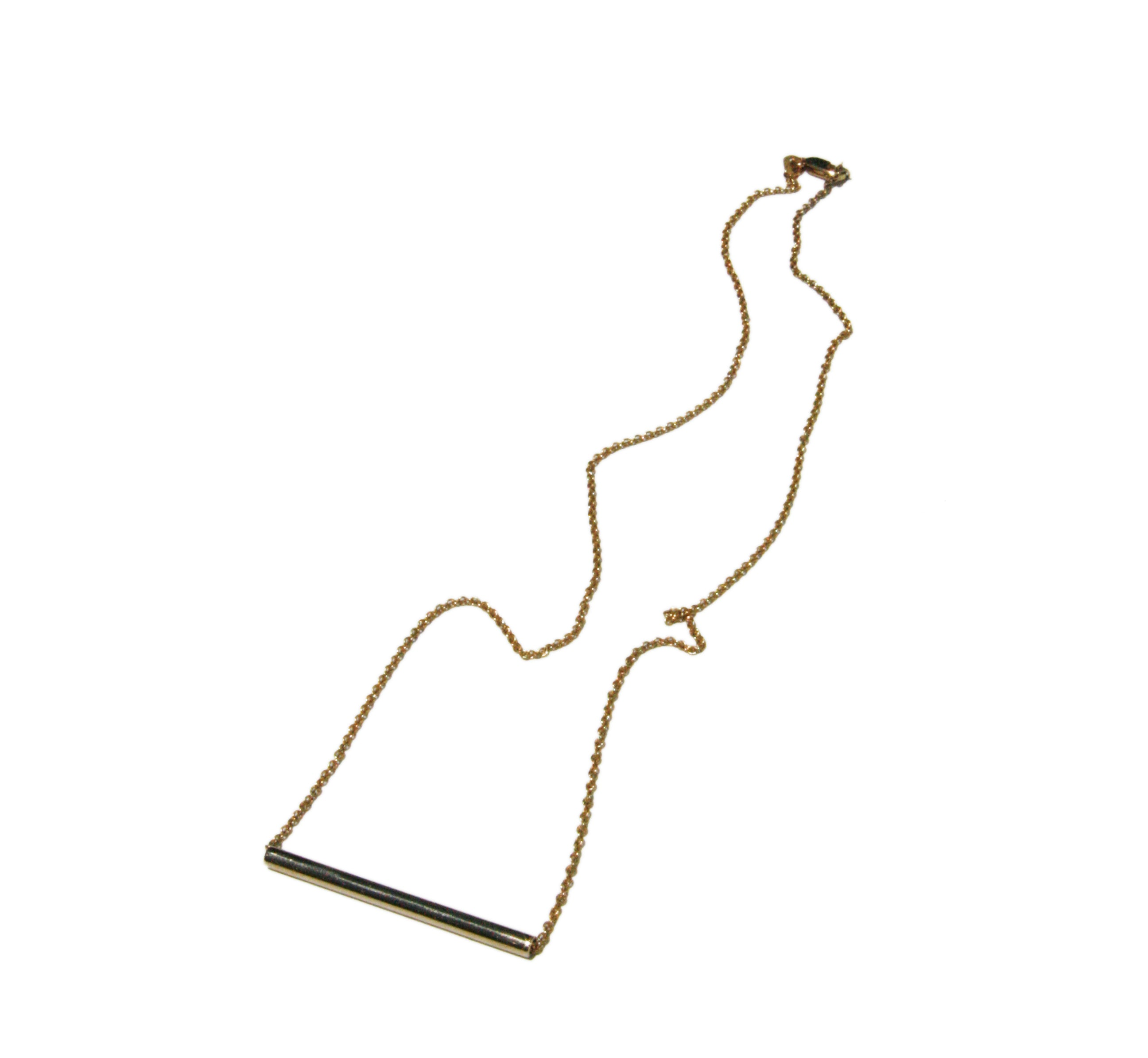 Gold rod necklace