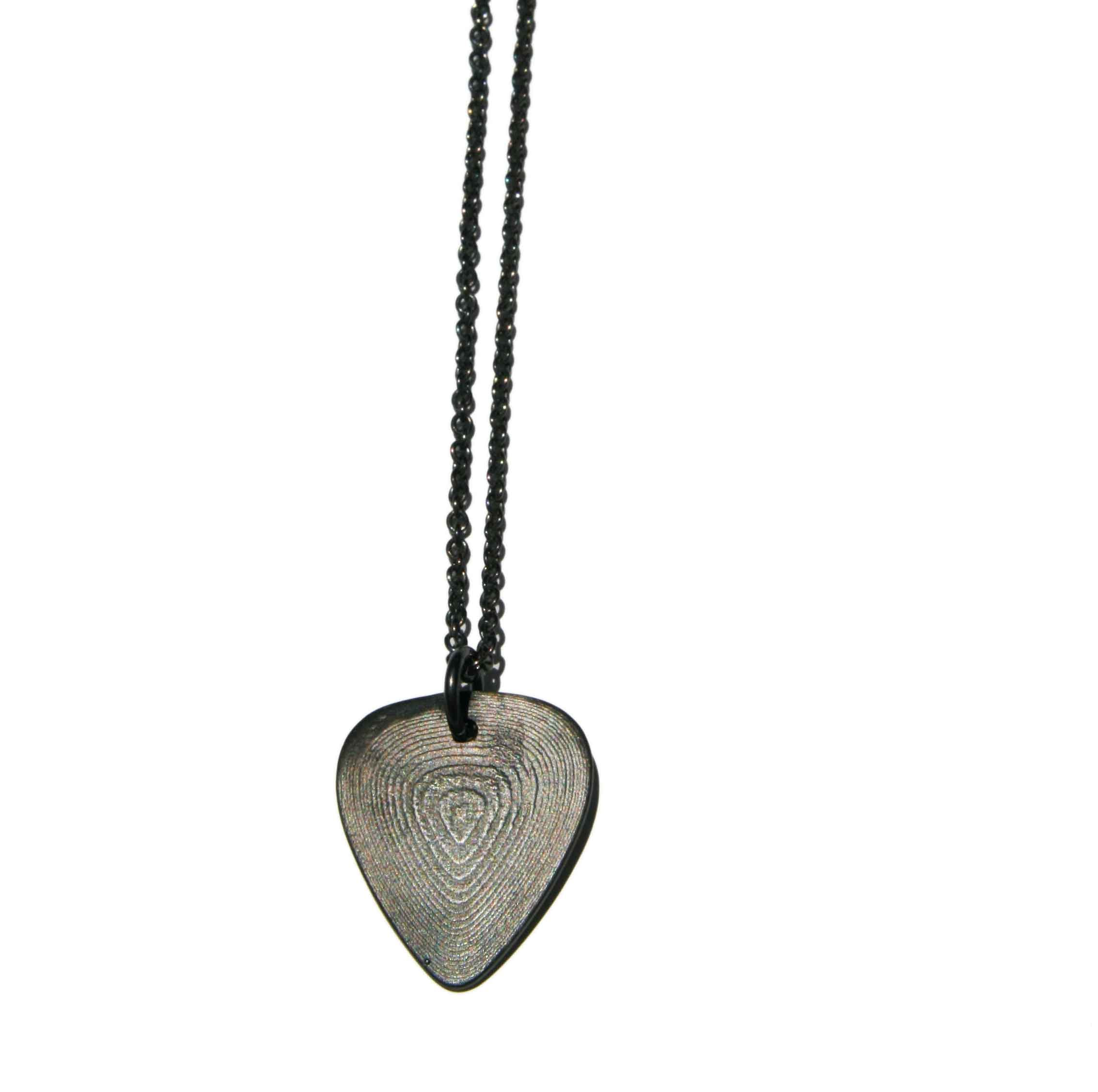 Oxidised silver Plectrum necklace