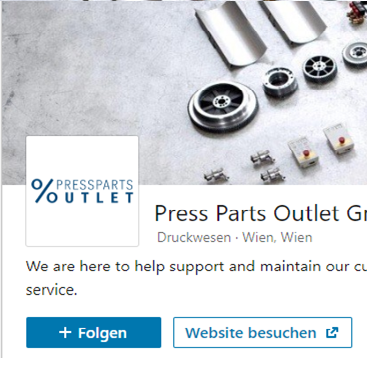 Pressparts Outlet is now on LinkedIn
