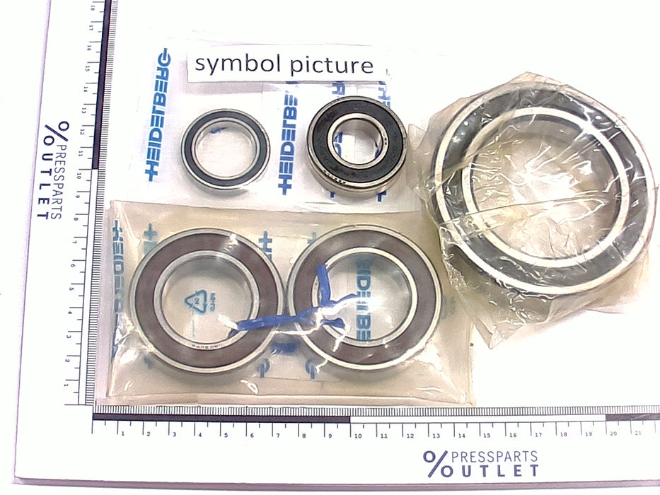 Grooved ball bearing S6001-2RS - 00.520.1232/ - Rillenkugellager S6001-2RS