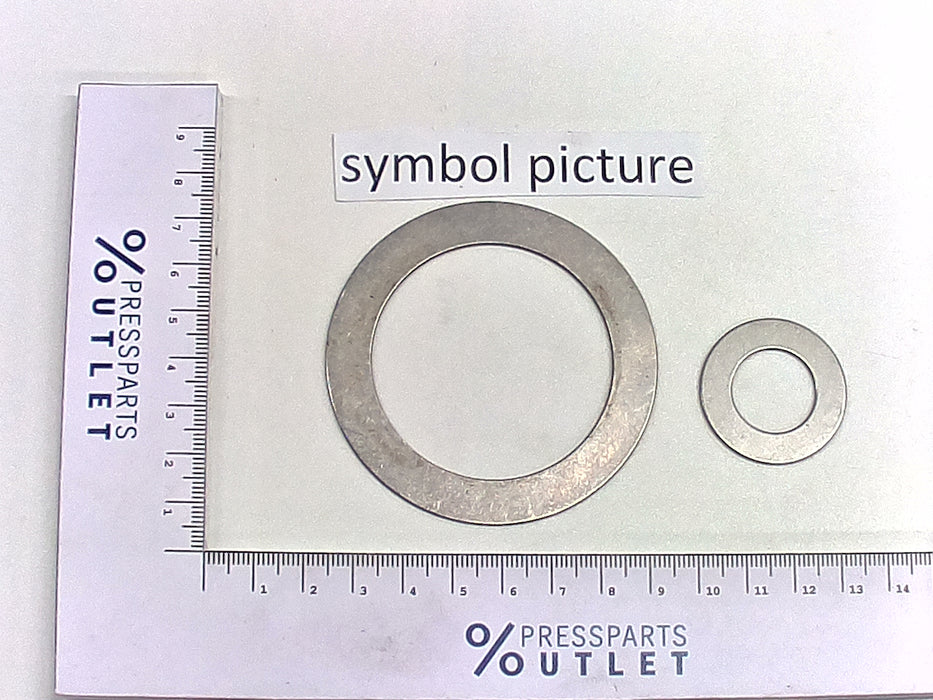 Axial bearing disc  AS 2542 - 00.550.0607/ - Axialscheibe  AS 2542