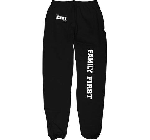 CITI TEAM SWEATSUIT BOTTOM IN BLACK