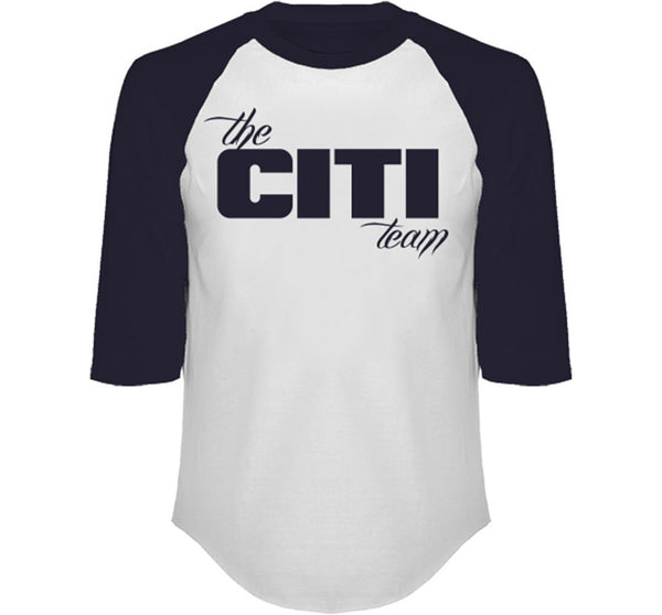 THE CITI TEAM 3/4 SLEEVE RAGLAN IN NAVY