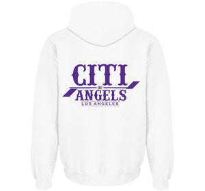 Citi Of Angels Pullover White W/ Purple