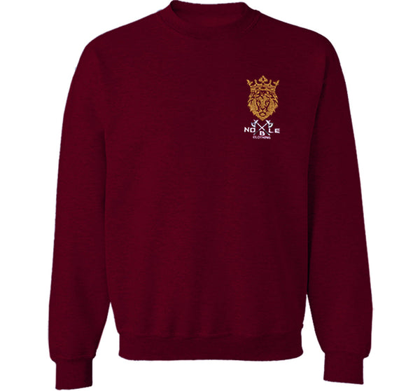 Noble Crewneck Sweatshirt in Maroon
