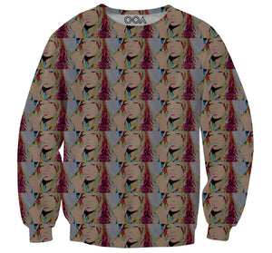 Smoking Girl Crewneck