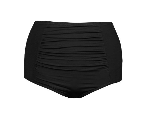 Jayne High Waisted Swim Bottom Black