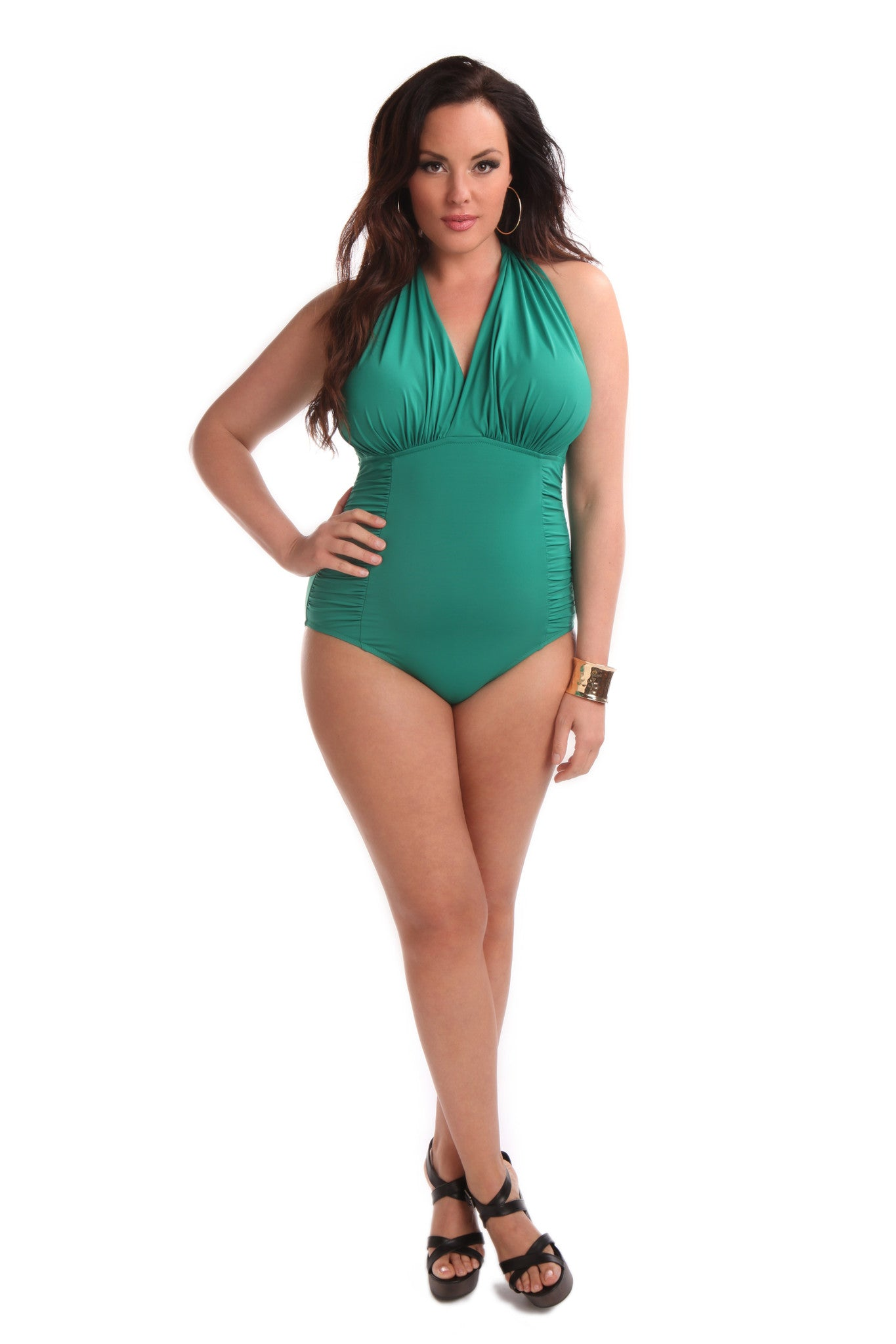 Marilyn One Piece Swimsuit Emerald
