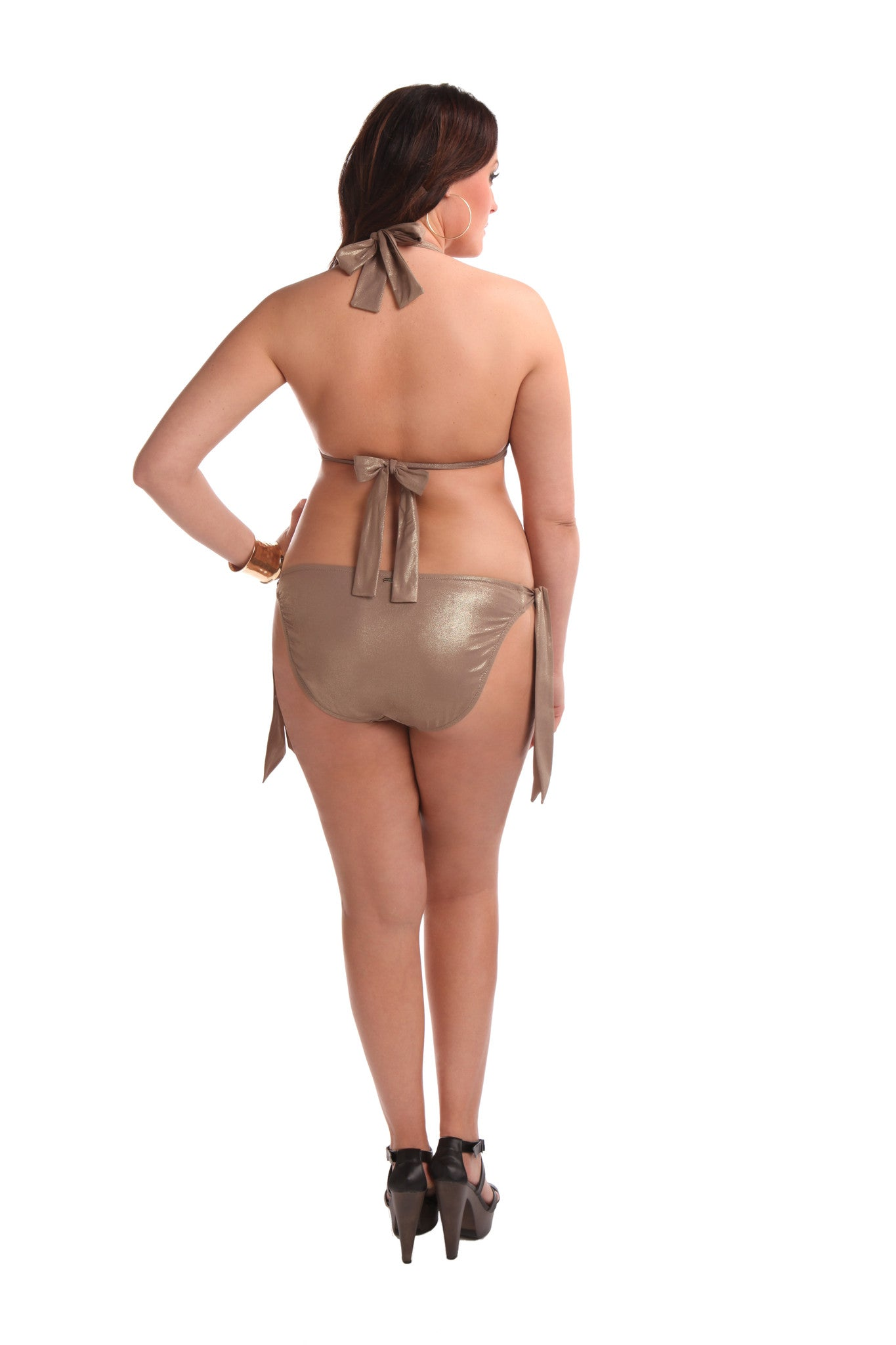 Brigitte Swim Bottom Glitzy Gold
