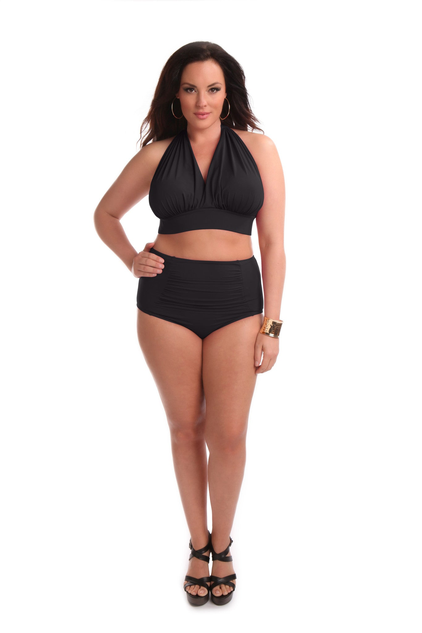 Marilyn Bikini Swim Top Black