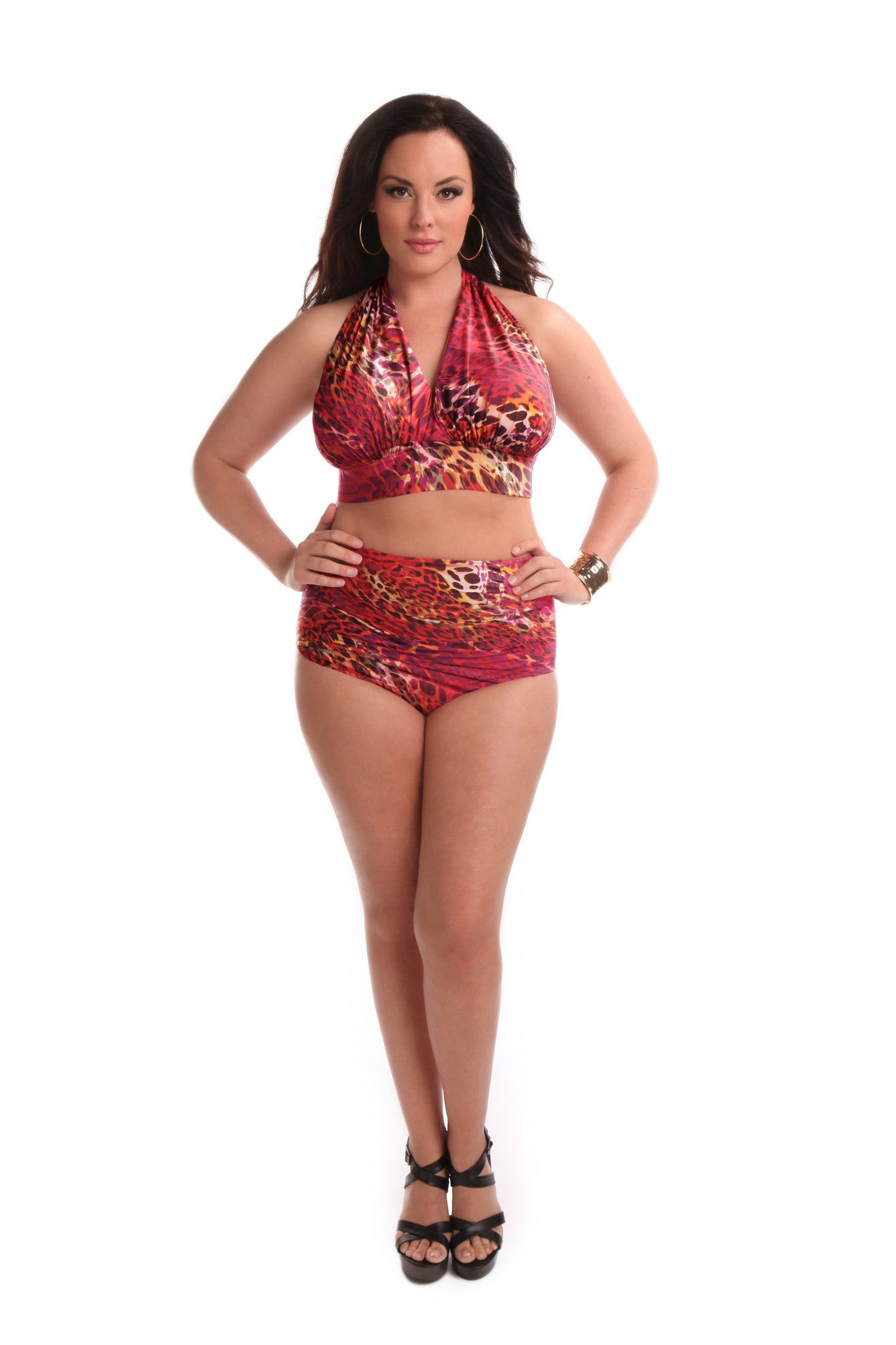 Jayne High Waisted Swim Bottom Animal Instinct