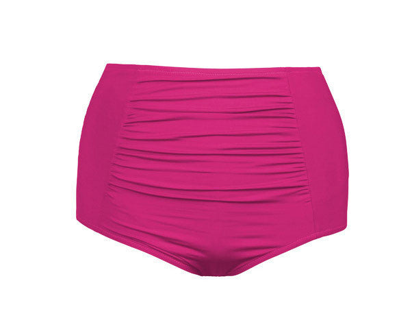 Jayne High Waisted Swim Bottom Rose