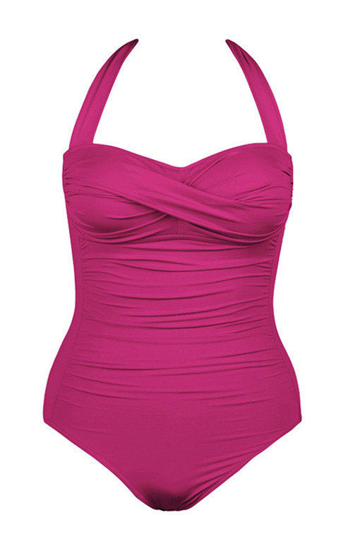 Twist One Piece Swimsuit Rose