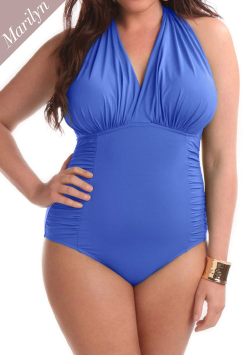 Marilyn One Piece Swimsuit Azure