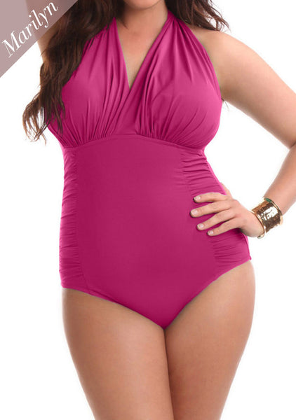 Marilyn One Piece Swimsuit Rose
