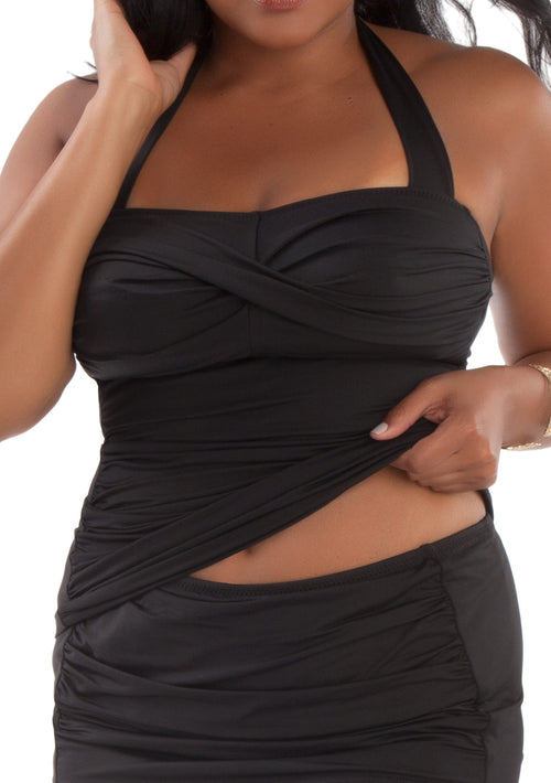 Twist Tankini Black