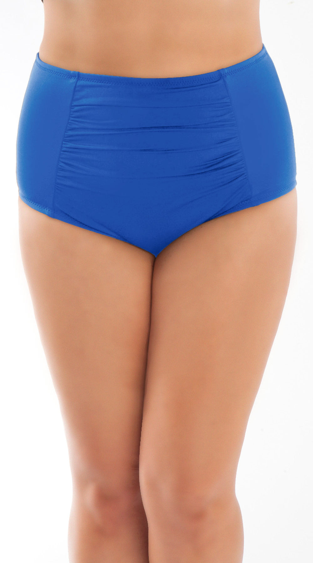 Jayne High Waisted Swim Bottom Azure