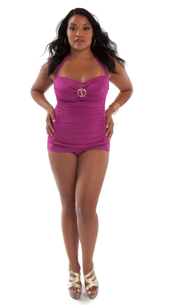 Signature One Piece Swimsuit Rose