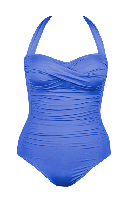 Twist One Piece Swimsuit Azure