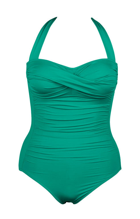 Twist One Piece Swimsuit Emerald