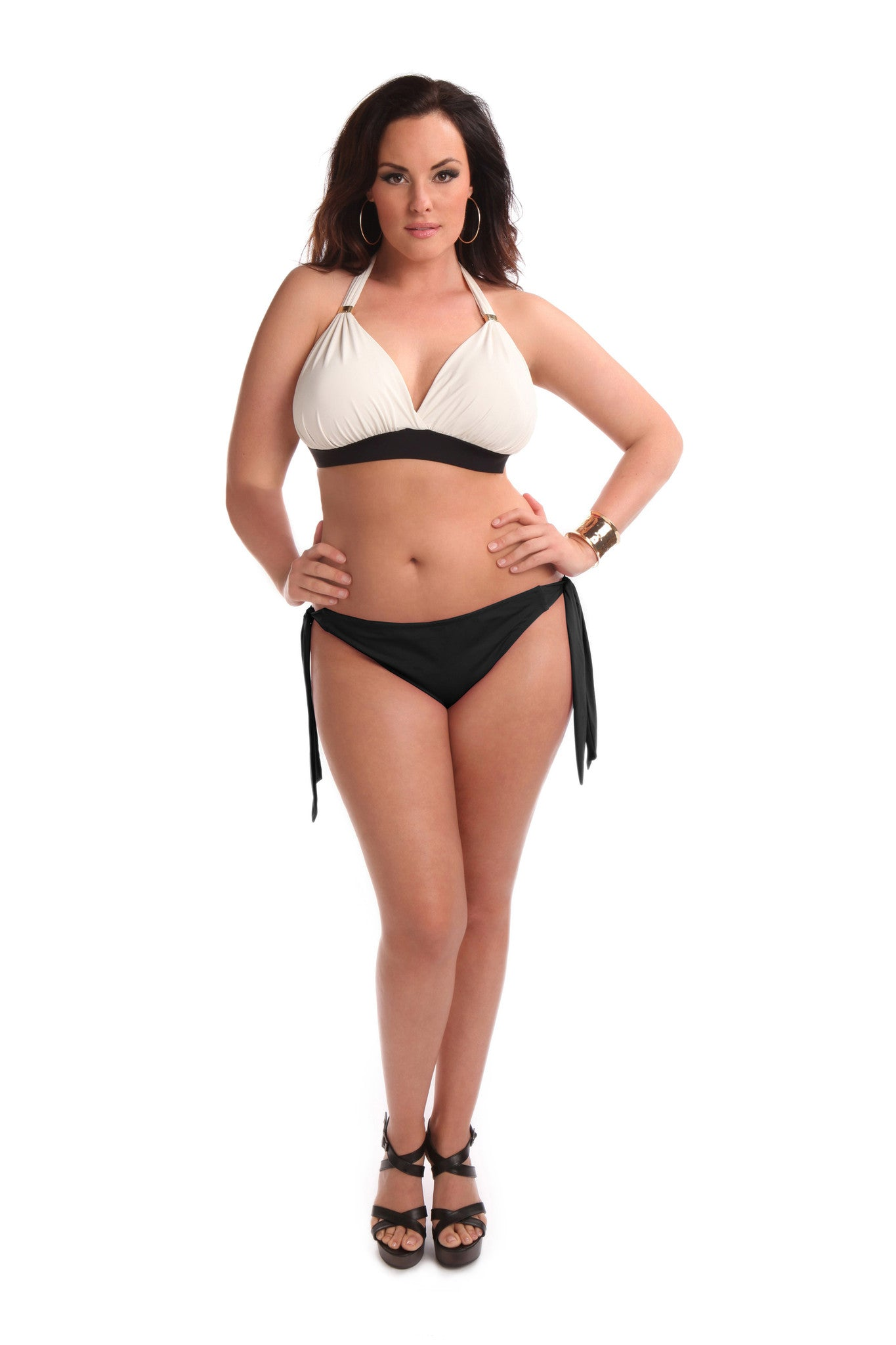 Sorella Swim Curvy Plus Size Swimsuit Bikini Bottom Brigitte