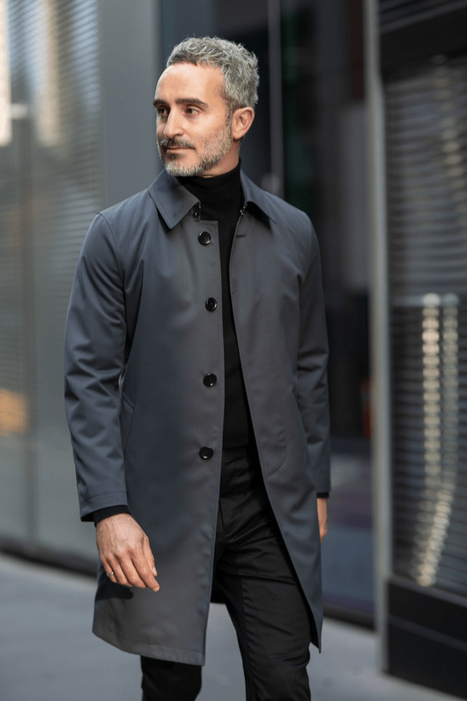Drivar Car Coat - Tech Dark Grey