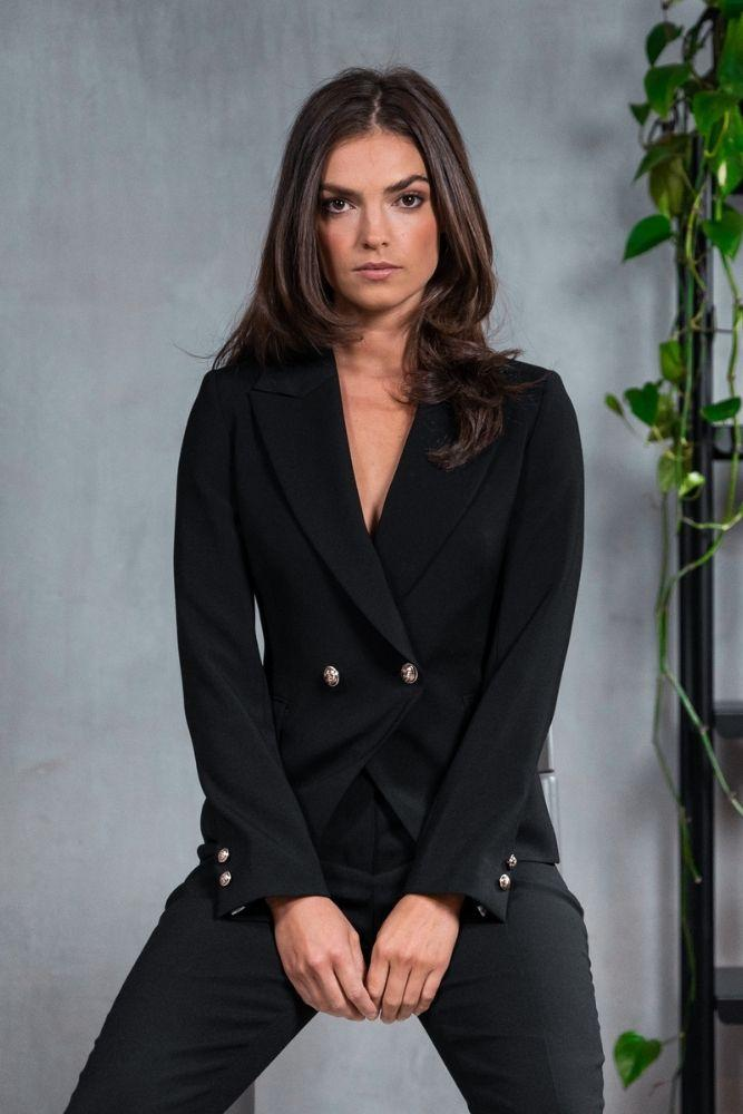 Ariana Suit - Black Wool Stretch