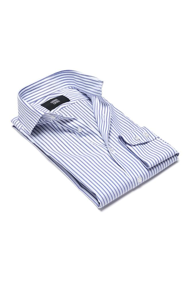 Pilot (BC) Shirt - Blue Stripe