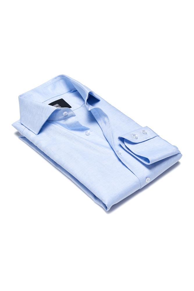 Pilot (BC/CL) Shirt - Lt Blue Cotton Linen