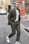 Julius Sports Jacket - Olive Cotton
