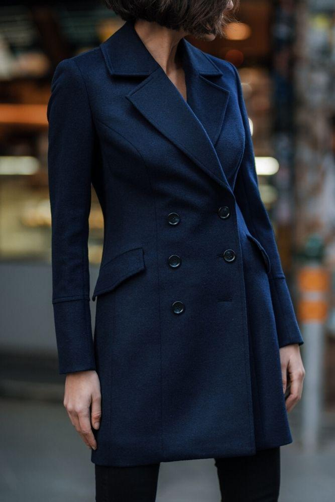 Audrey Coat - Navy Wool
