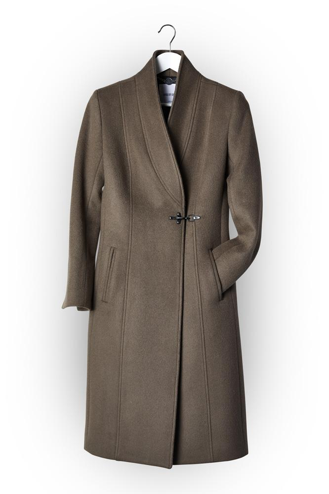 Amba Coat (Long) - Deep Taupe Wool 465