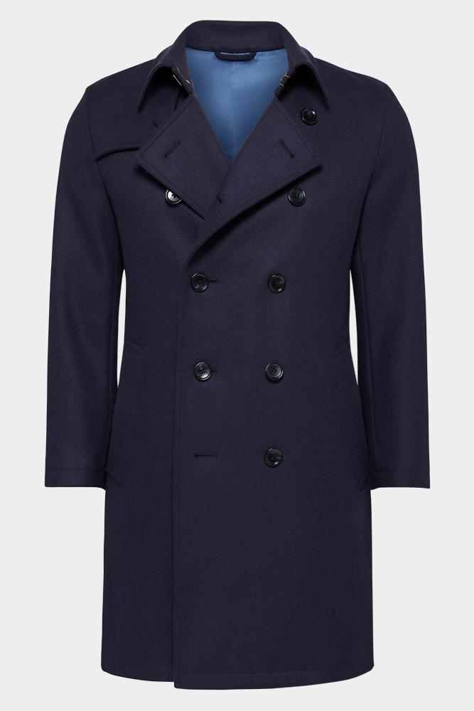 Drake Coat - Navy Wool