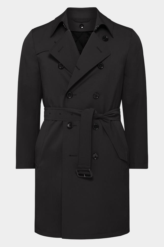Drake Trench Coat - Tech Black