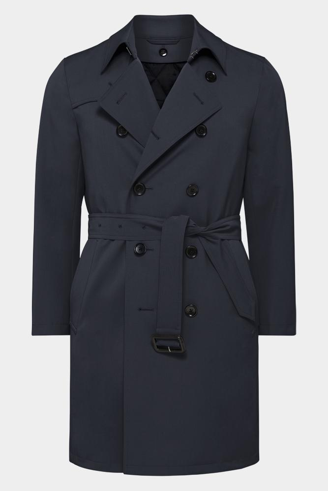 Drake Trench Coat - Tech Navy
