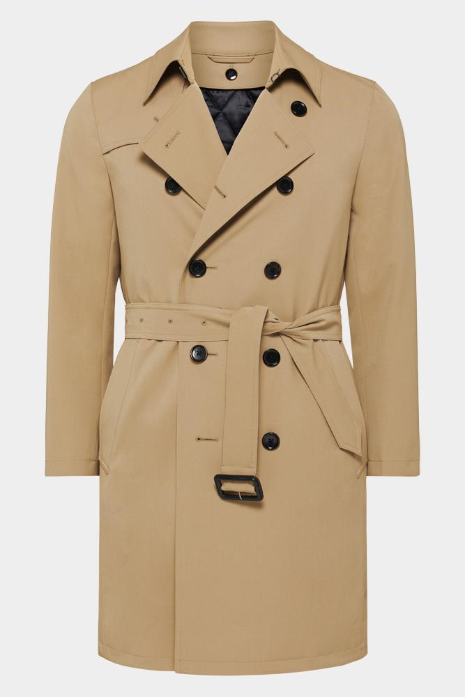 Drake Trench Coat - Tech Tan