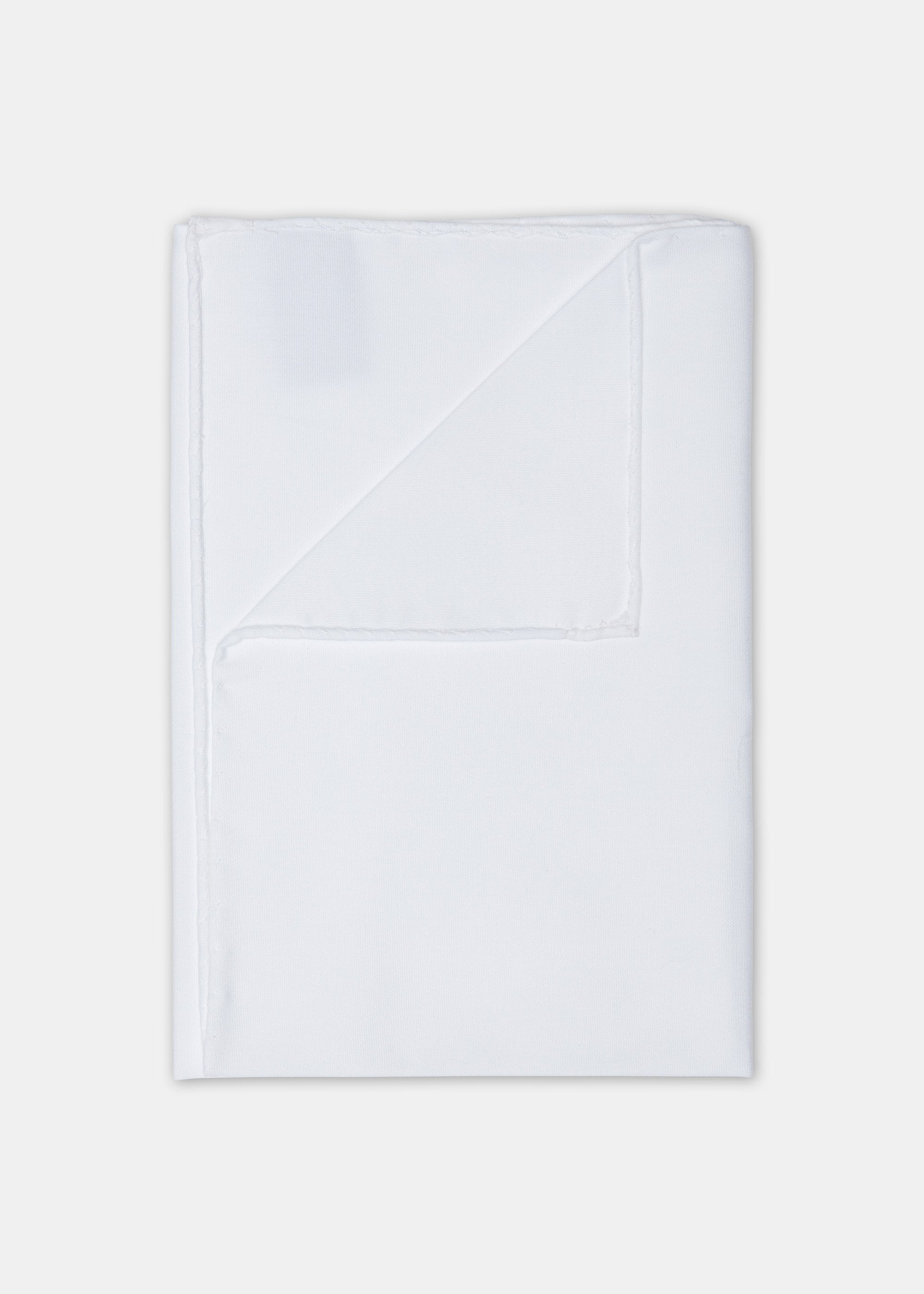 Cotton Pocket Square - White