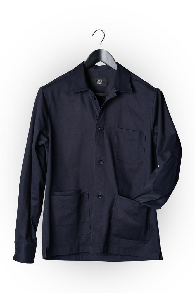 Ethan Overshirt - Dk Navy Cotton Drill