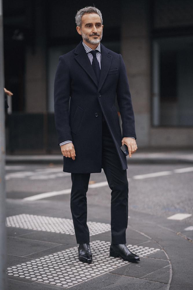 Maxwell Coat - Navy Wool 465