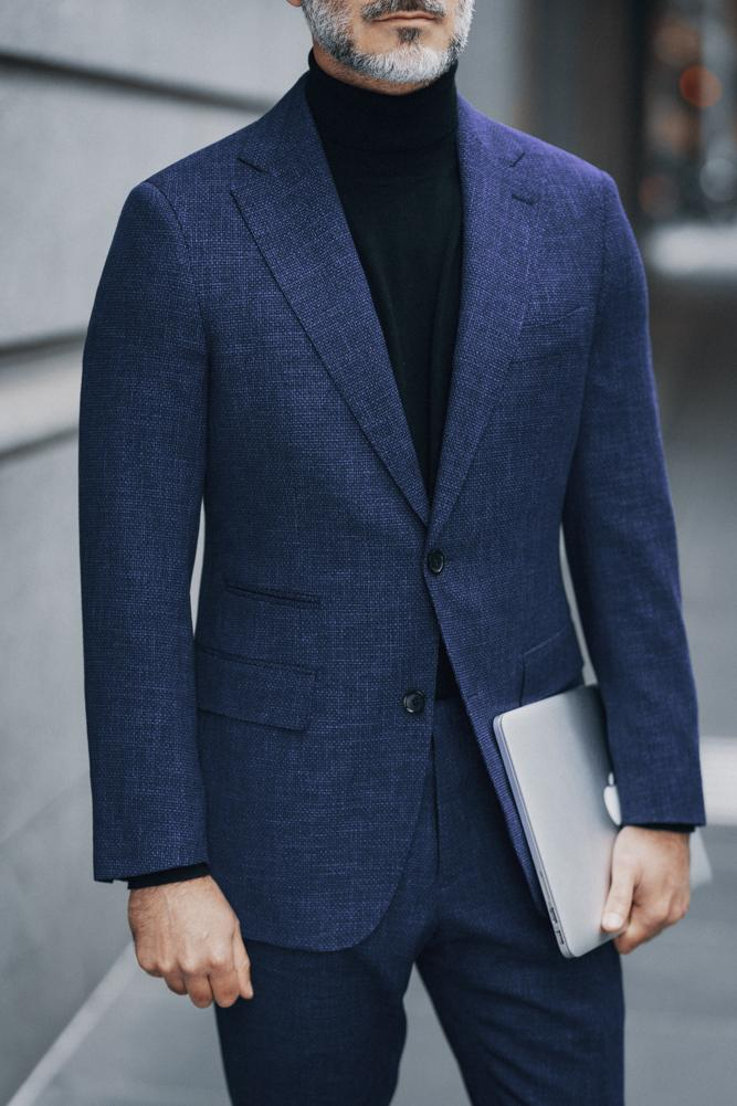 Greyson Suit - Blue Circle Stretch