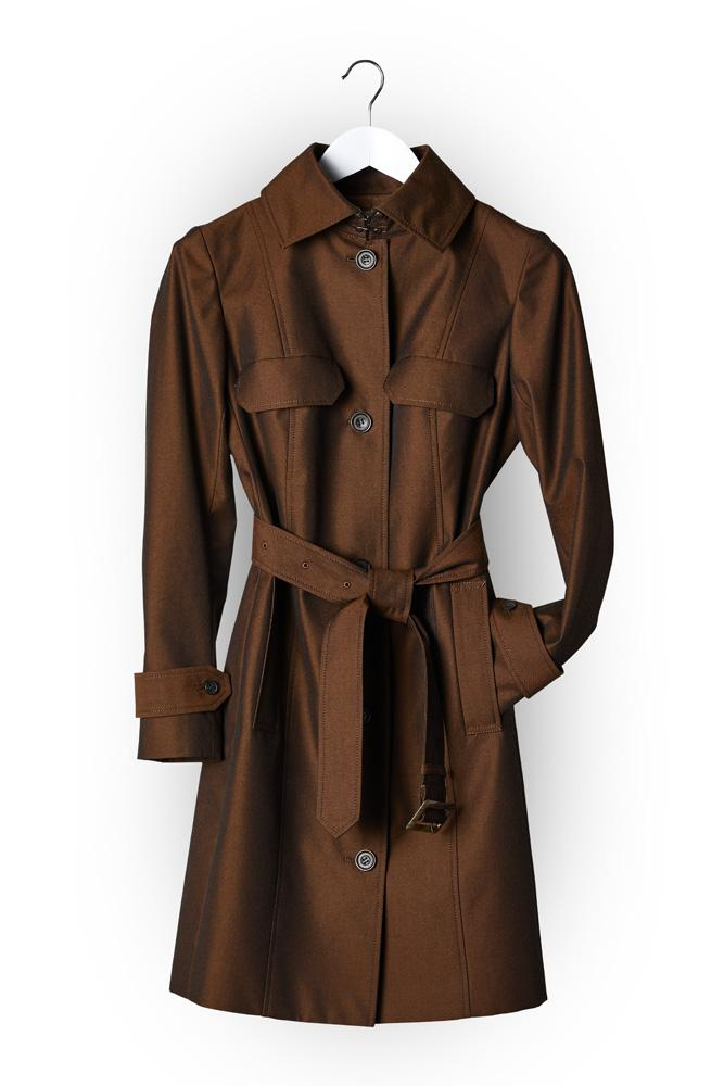 Grace Trench Coat - Brown Citrus Cotton