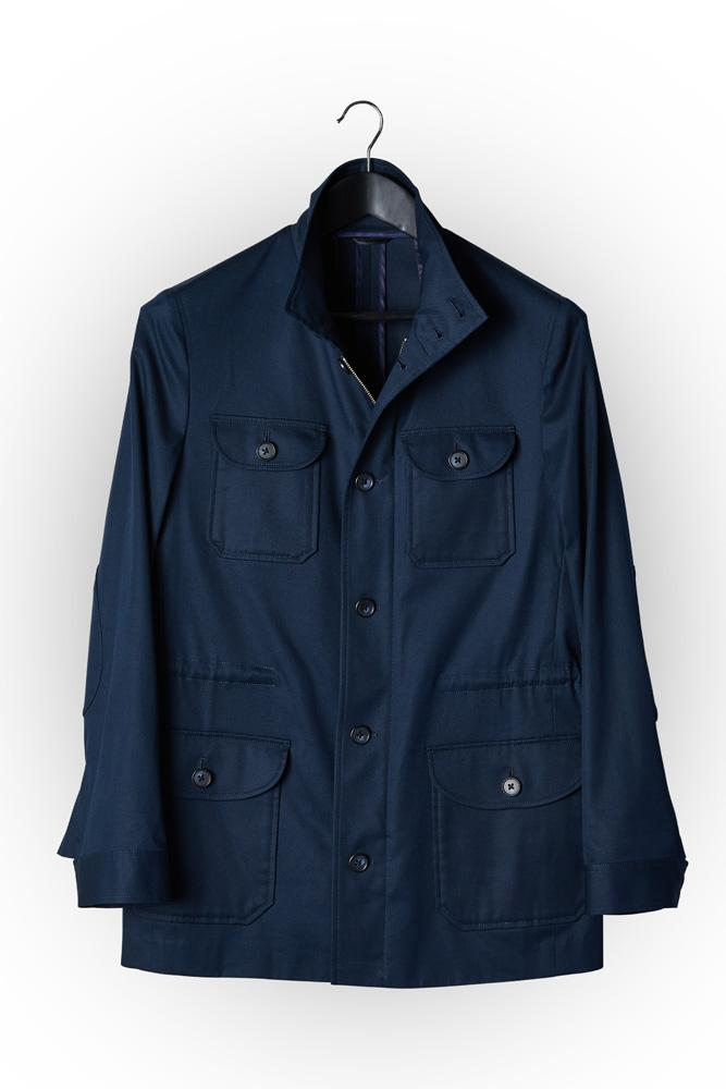 Hunter Safari Jacket - Navy Cotton