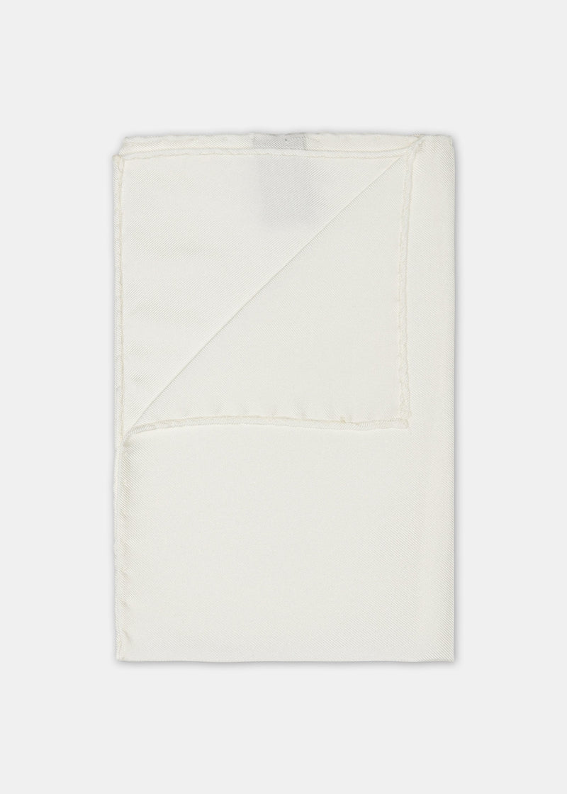 Silk Pocket Square - White