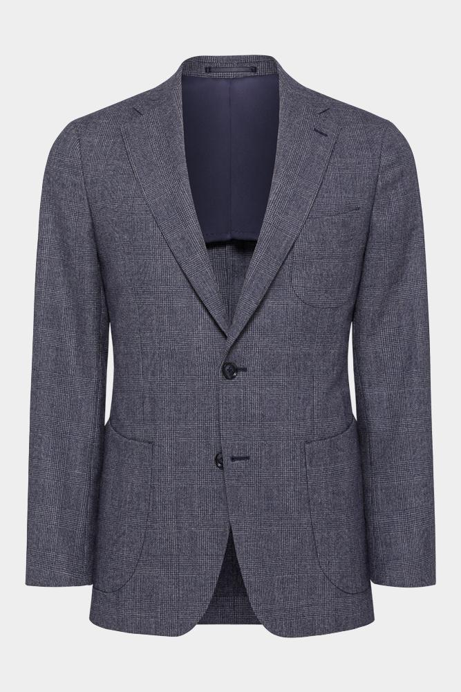 Julius Sports Jacket - Dusty Denim Check
