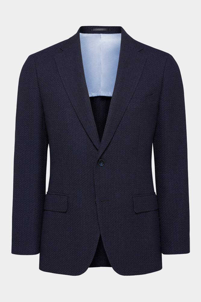 Wilhelm Sports Jacket - Navy Blue Knit