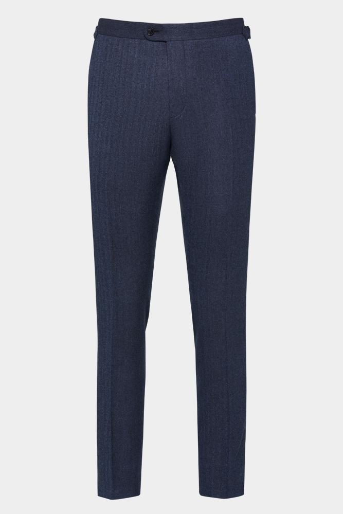 Apollo Trouser - Navy Herringbone