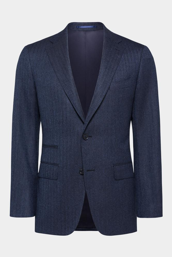 Greyson Suit - Navy Herringbone